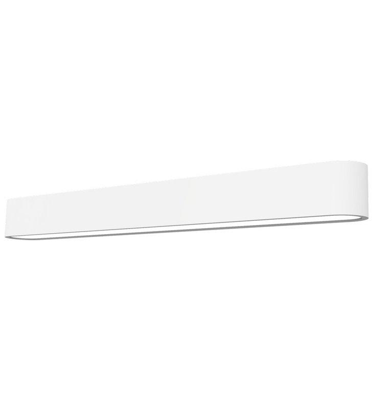 Nowoczesny biały prawie metrowy podłużny biały kinkiet Soft White LED 90