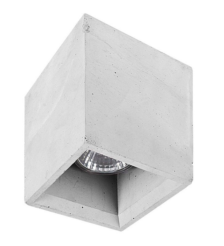 Szara kwadratowa oprawa downlight z betonu Bold