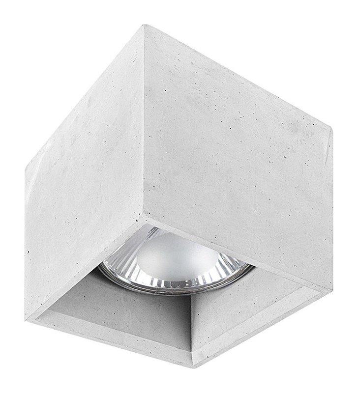 Betonowa lampa sufitowa Bold szara nowoczesna kwadratowa
