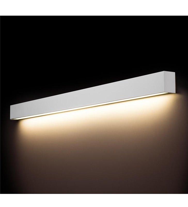 Kinkiet Straight White LED podłużny metalowy biały 120CM styl nowoczesny