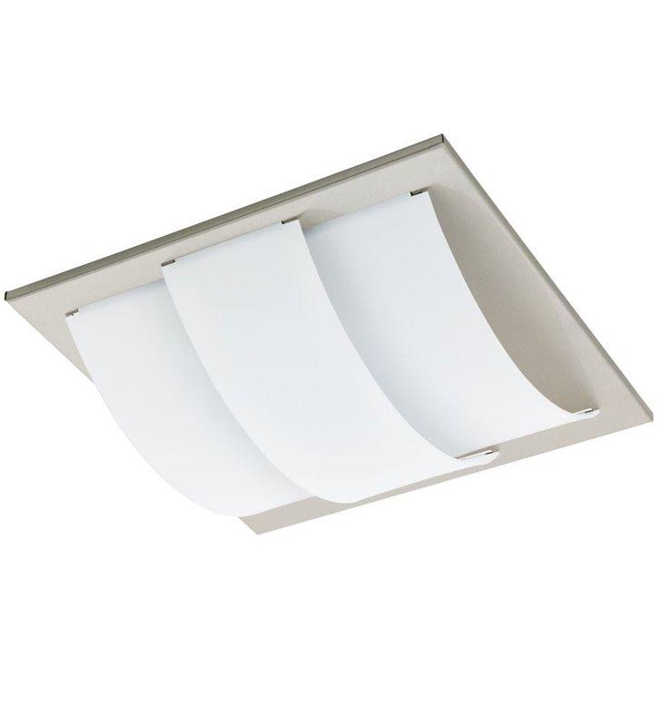 Lampa ścienno sufitowa Aranda kwadratowa z białym kloszem