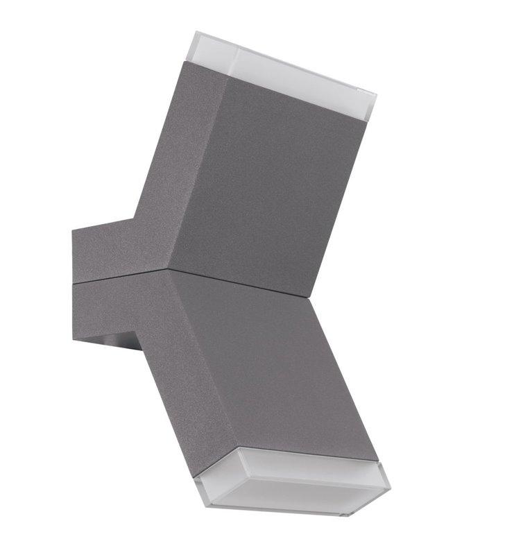 Kinkiet Cantzo srebrny metalowy oryginalny kształt styl nowoczesny