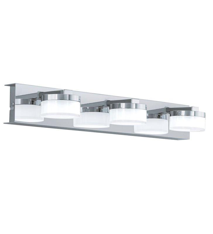 Potrójny nowoczesny kinkiet montowany nad lustrem do łazienki Romendo1 chrom