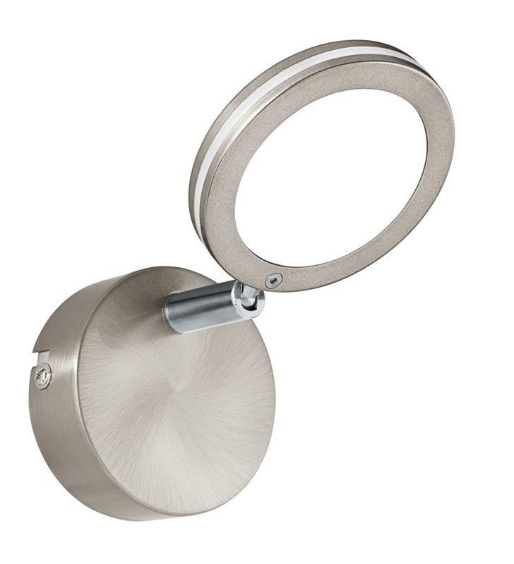 Kinkiet Karystos LED nikiel satynowany z chromem okrągły ruchomy klosz