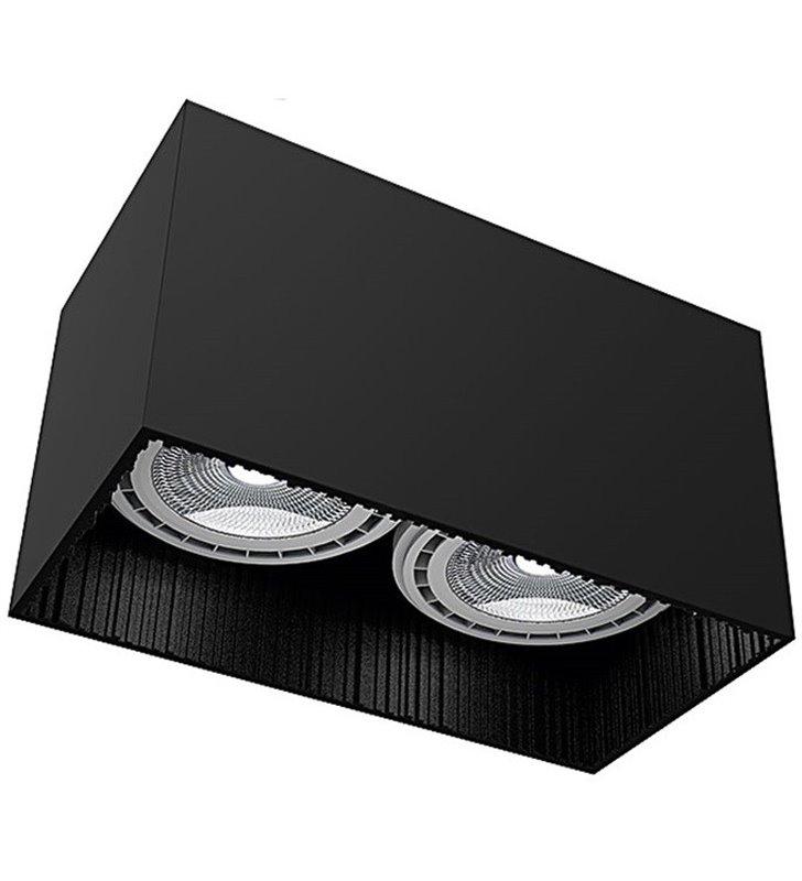 Lampa sufitowa Groove Black czarna podwójna żarówki GU10 ES111 prostokątna