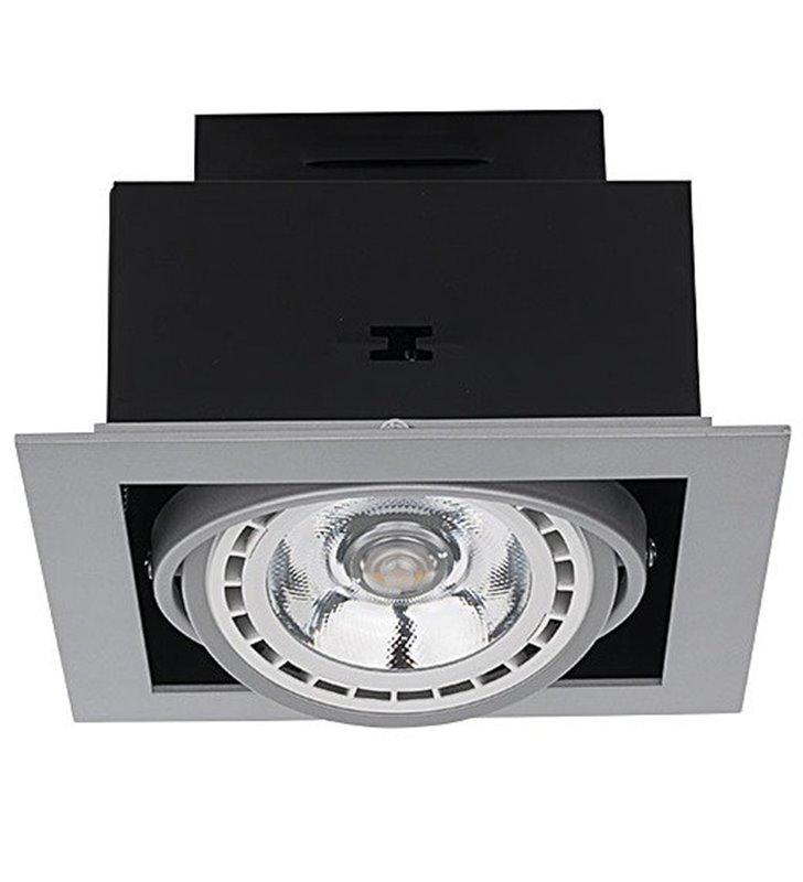 Lampa pod tynkowa Downlight Silver srebrna kwadratowa ruchoma
