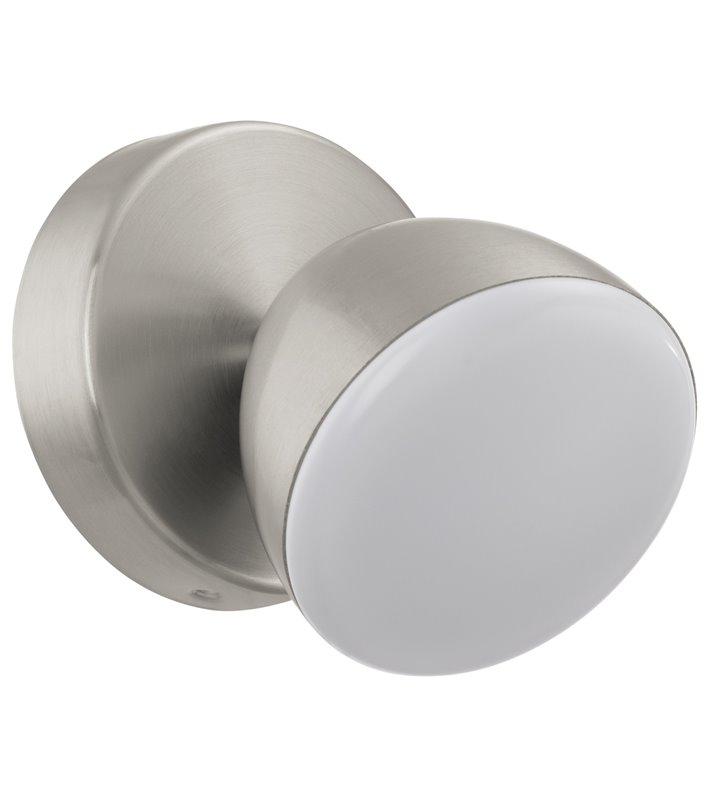 Pojedynczy nowoczesny spot Calvos1 LED satynowany nikiel