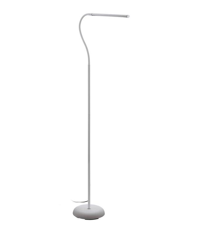 Lampa stojąca Laroa LED biała podłużny klosz giętkie ramię naturalna barwa światła