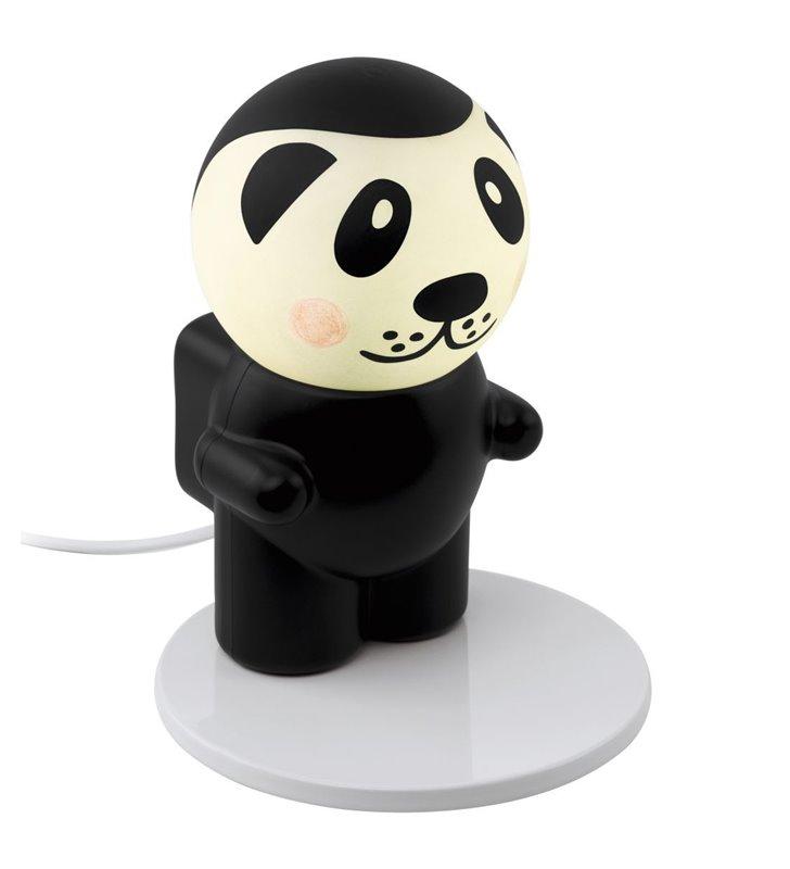 Dziecięca lampka stołowa Fu Pan panda astronauta w komplecie dekoracyjne naklejki