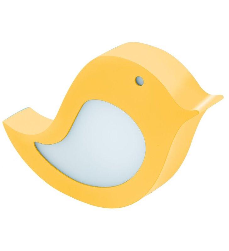 Żółta lampka dziecięca Sparino ptaszek 2w1 lampka stołowa i kinkiet