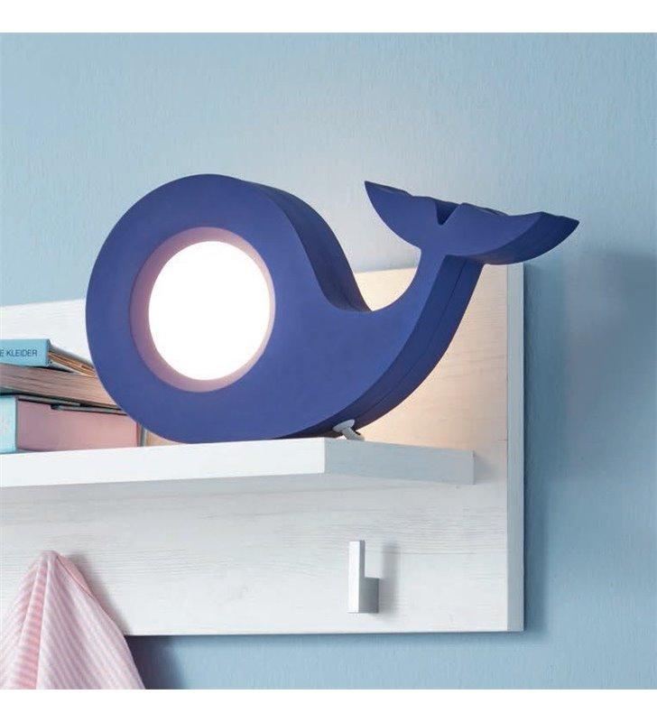 Dziecięca lampka stołowa w kolorze niebieski wieloryb Walina