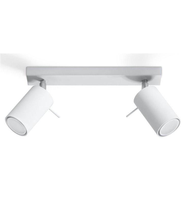 Lampa sufitowa Ring biała podwójna z chromowymi detalami minimalistyczny styl - OD RĘKI
