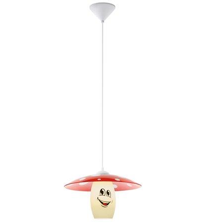 Dziecięca lampa wisząca Funji grzybek muchomorek