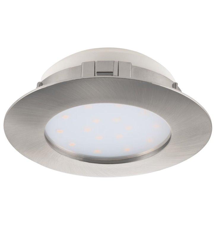 Oprawa punktowa Pineda LED nikiel satyna średnica 10cm wymienny moduł LED