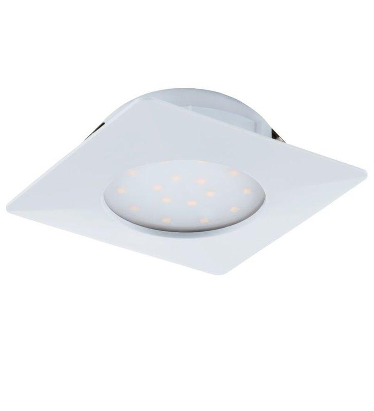 Biała kwadratowa oprawa punktowa Pineda LED 102mm wymienny moduł LED
