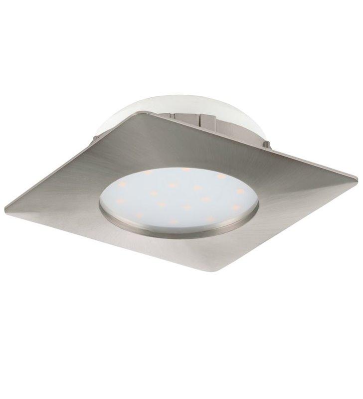 Kwadratowa oprawa punktowa Pineda LED nikiel satyna wymienny moduł LED
