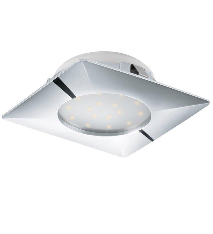 Chromowana kwadratowa oprawa punktowa Pineda LED z wymiennym modułem LED