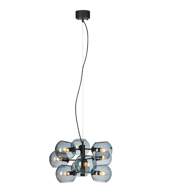 Nowoczesna wielopunktowa lampa wisząca żyrandol Soap czarny szklane klosze
