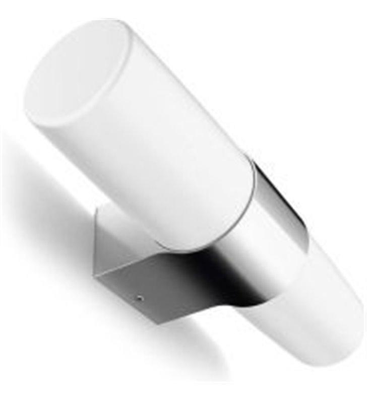 Kinkiet do łazienki Skin LED chrom 2 białe klosze - DOSTĘPNY OD RĘKI