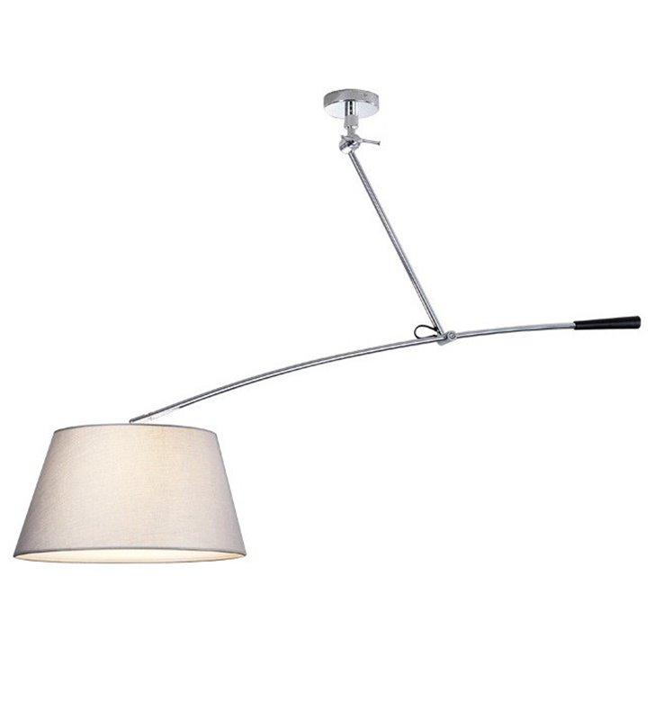 Lampa wisząca Barcelona biała nowoczesna z regulacją wysokości szerokości można obracać