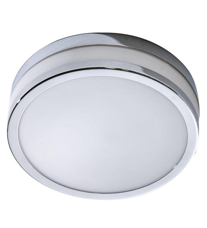 Mały okrągły plafon łazienkowy Kari 220 chrom IP44