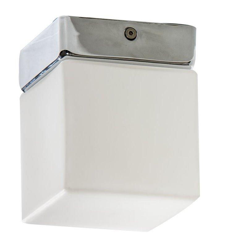 Mała kwadratowa lampa łazienkowa Mil 100 montaż na suficie lub ścianie