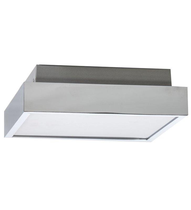 Kwadratowy plafon do łazienki Asteria 300 chrom 4000K barwa światła naturalna IP44