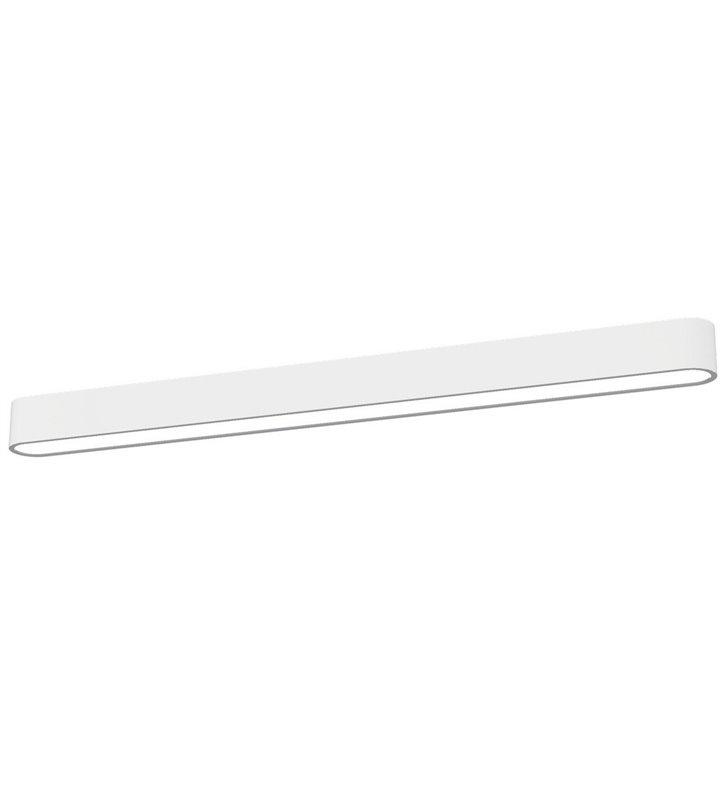 Plafon Soft White 90 biały wąski podłużny nowoczesny do salonu sypialni biura na korytarz przedpokój 6987 - OD RĘKI-