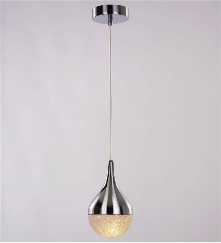 Lampa wisząca Cecilia pojedyncza w kształcie kropli dekoracyjny klosz