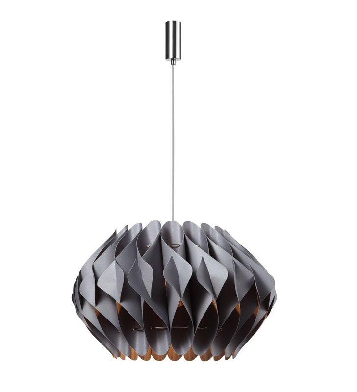 Duża szara designerska lampa wisząca Ruben średnica abażura 65cm