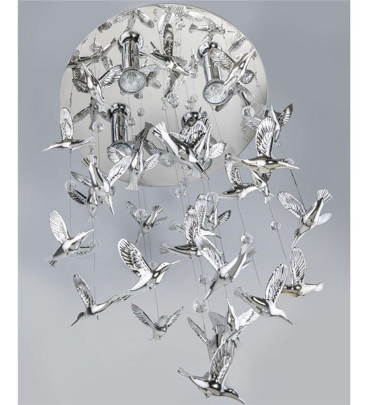 Lampa wisząca Birds dekoracyjna awangardowa z wiszącymi ptaszkami do salonu sypialni jadalni