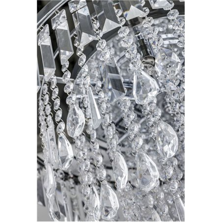 Kryształowa lampa wisząca Kalabria o średnicy 52cm kryształu tworzą kaskadę