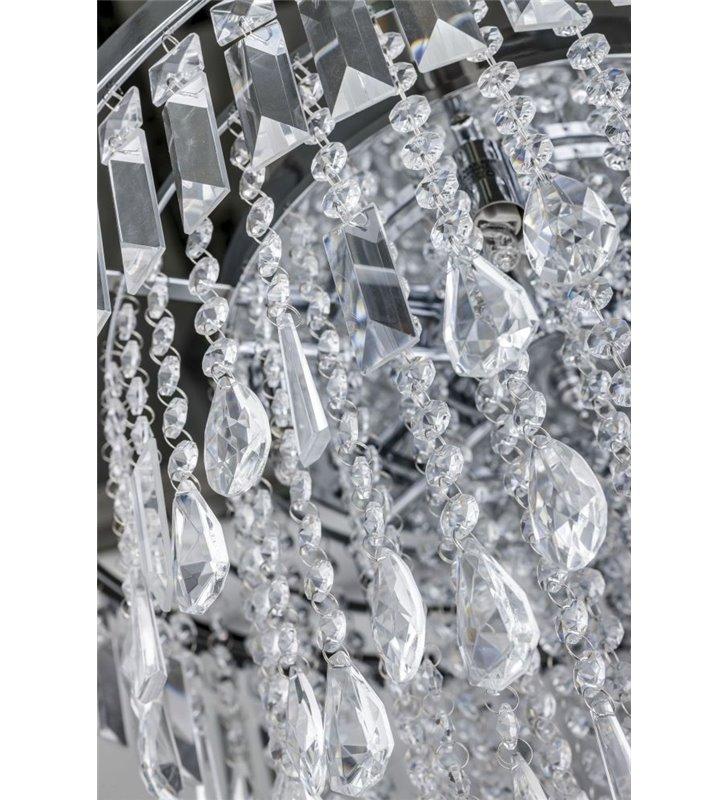 Plafon kryształowy Kalabria 520 metal chrom elegancki kaskada