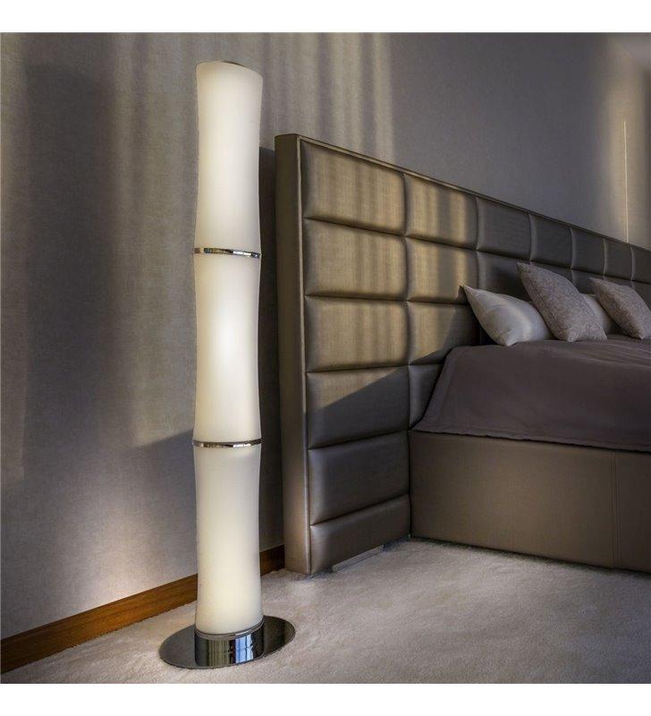 Lampa stojąca Bamboo nowoczesna sterowana pilotem ze ściemniaczem