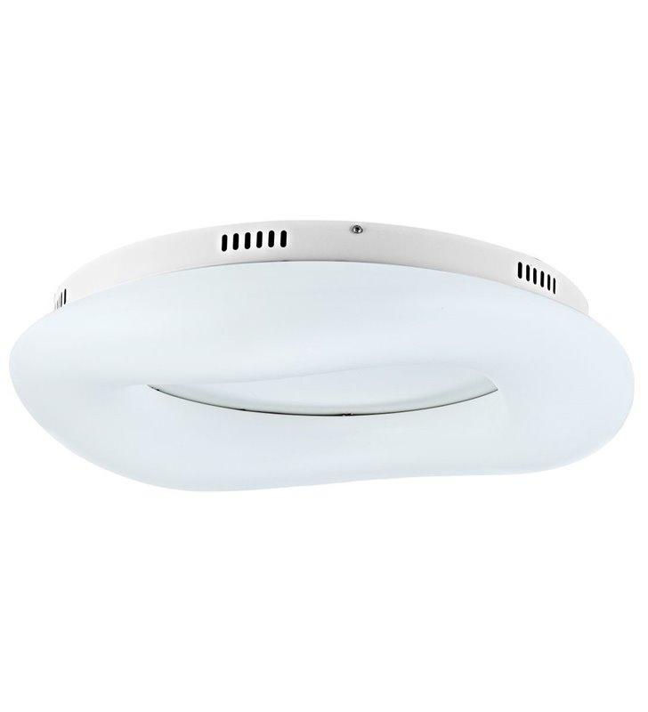 Duży nowoczesny plafon sufitowy Donut 750 biały możliwość ściemniania
