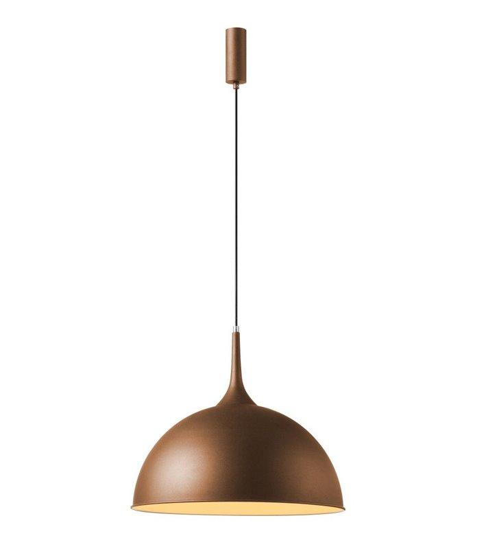 Brązowa metalowa lampa wisząca Mia w nowoczesnym stylu