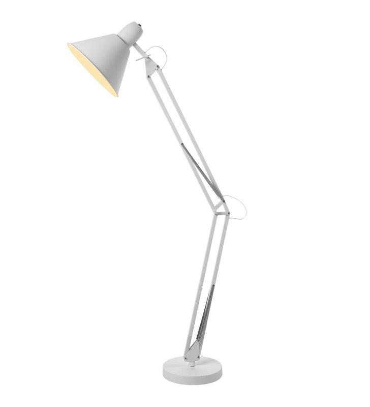 Stojąca nowoczesna lampa na podłogę Kipsar kolor biały szeroki zakres regulacji
