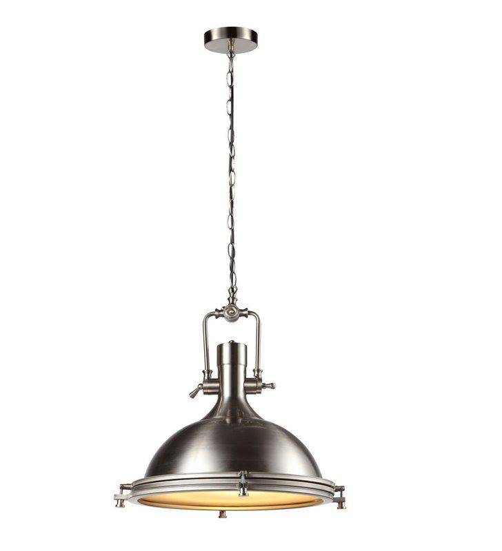 Loftowa metalowa lampa wisząca Garland w kolorze satynowanego niklu łańcuch