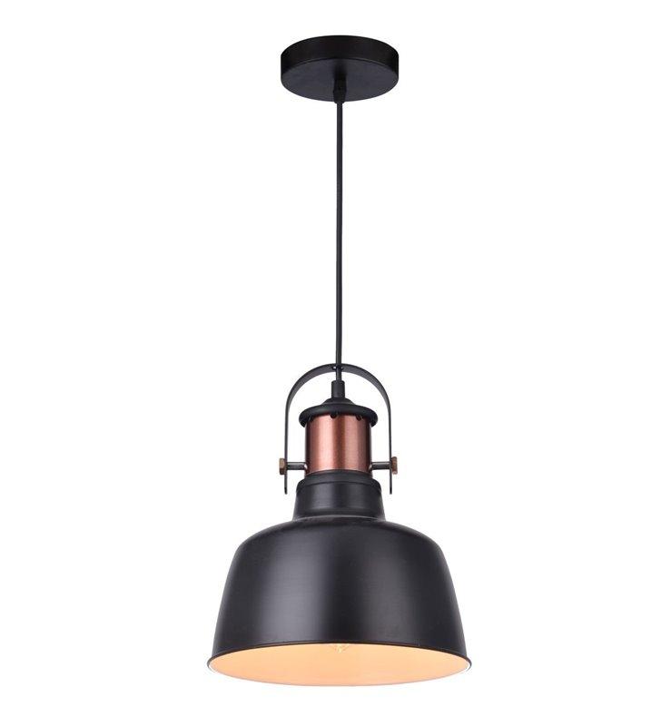 Lampa wisząca Darling czarna loftowa z miedzianymi detalami