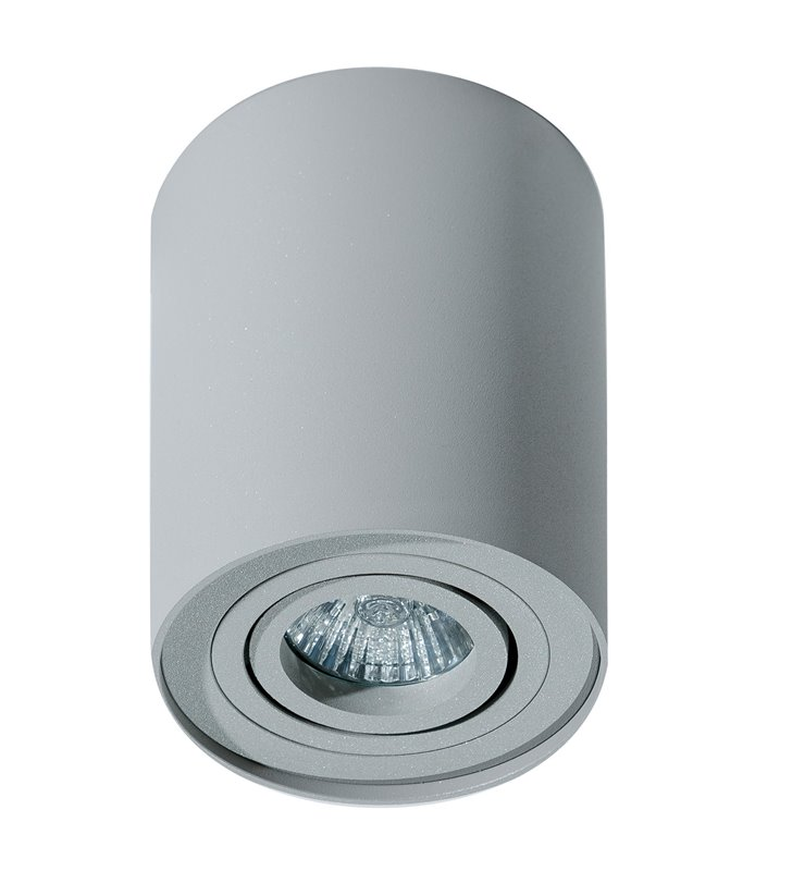 Lampa sufitowa typu downlight Bross walec jasno-szara