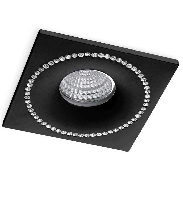 Oprawa podtynkowa z kryształkami Simon kolor czarny nieruchoma