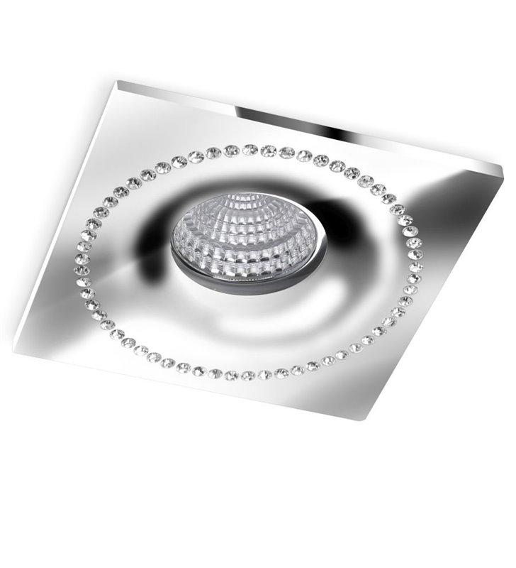 Ekskluzywna oprawka do wbudowania z kryształami Simon chrom