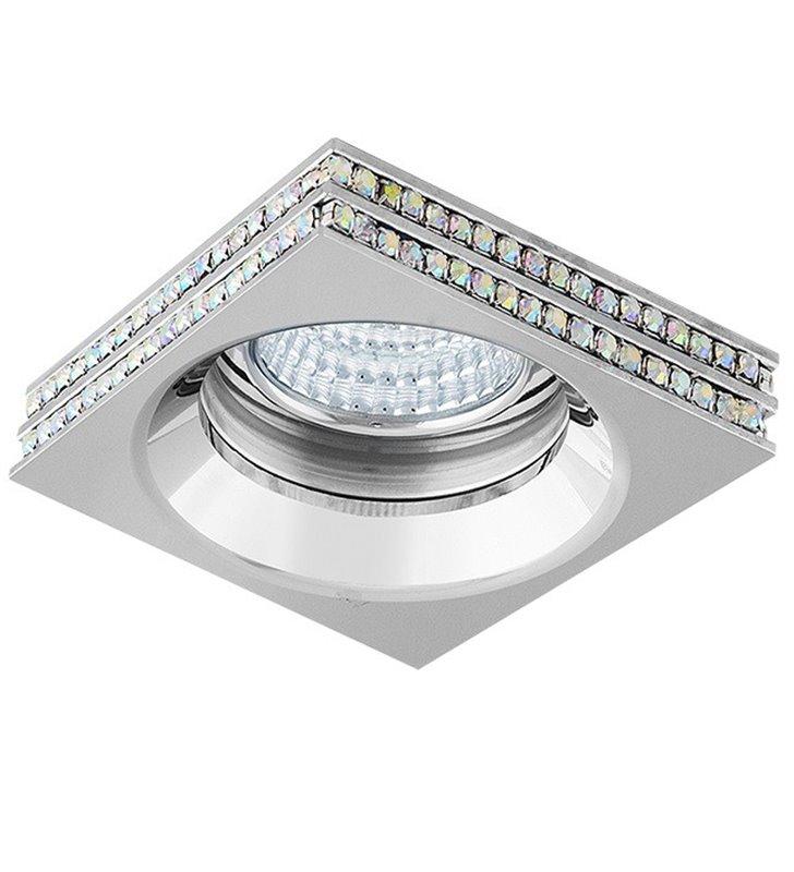 Lampa podtynkowa Eva chrom z kryształami elegancka efektowna