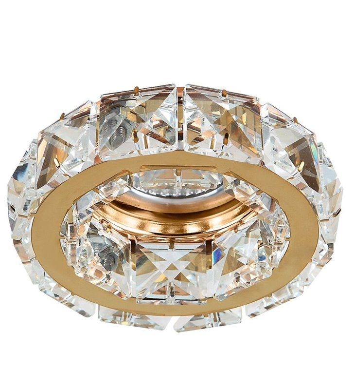 Kryształowa złota oprawka pod tynkowa Ester
