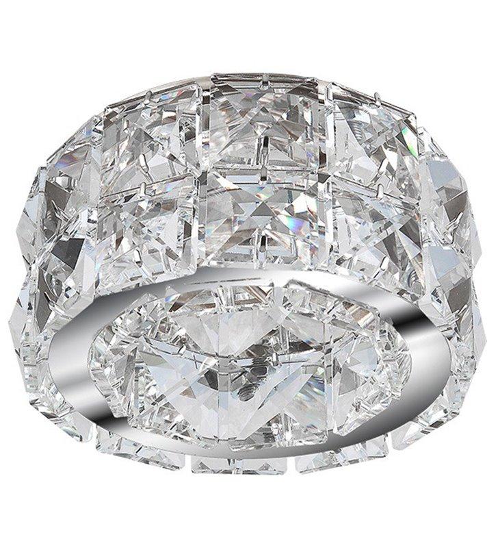 Elegancka kryształowa lampa do wbudowania Ester2 chrom
