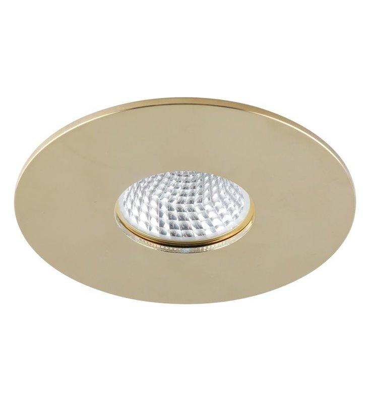 Złota oprawa punktowa Cleto średnica 9,8cm żarówka GU10