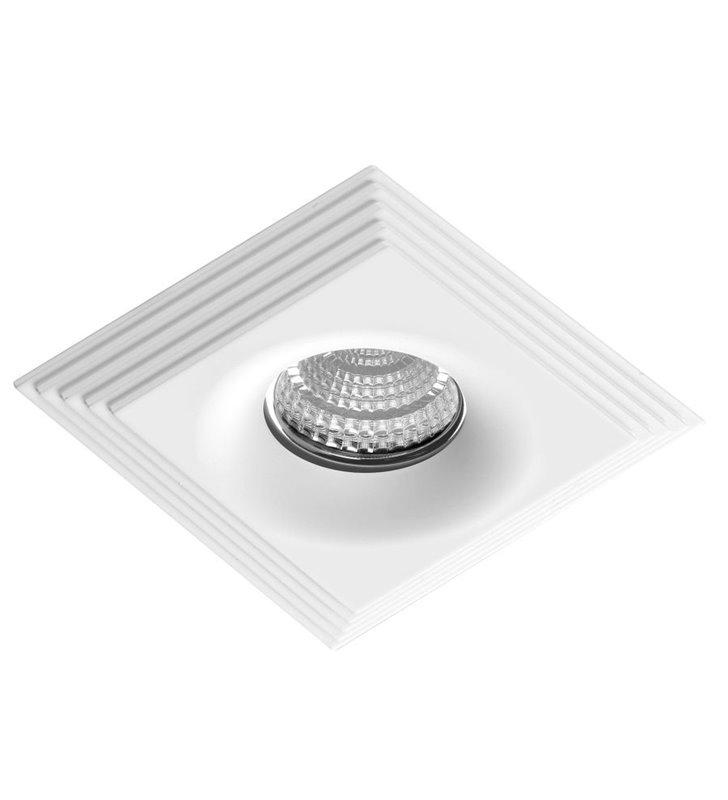 Biała lampa punktowa Luciano kwadratowa nowoczesna