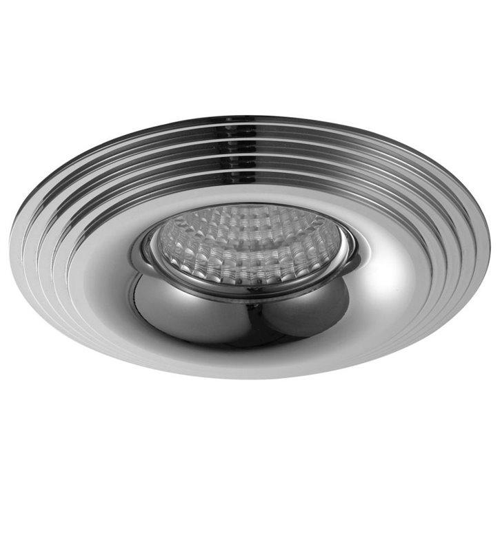 Lampa punktowa Luciano okrągła chrom do wbudowania