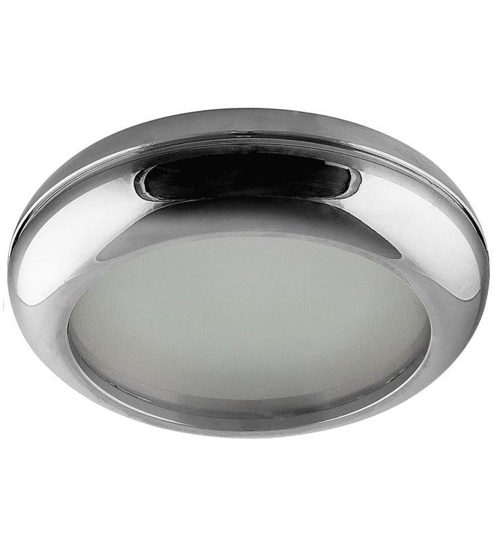Lampa pod tynkowa Biagio okrągła chrom żarówka GU10