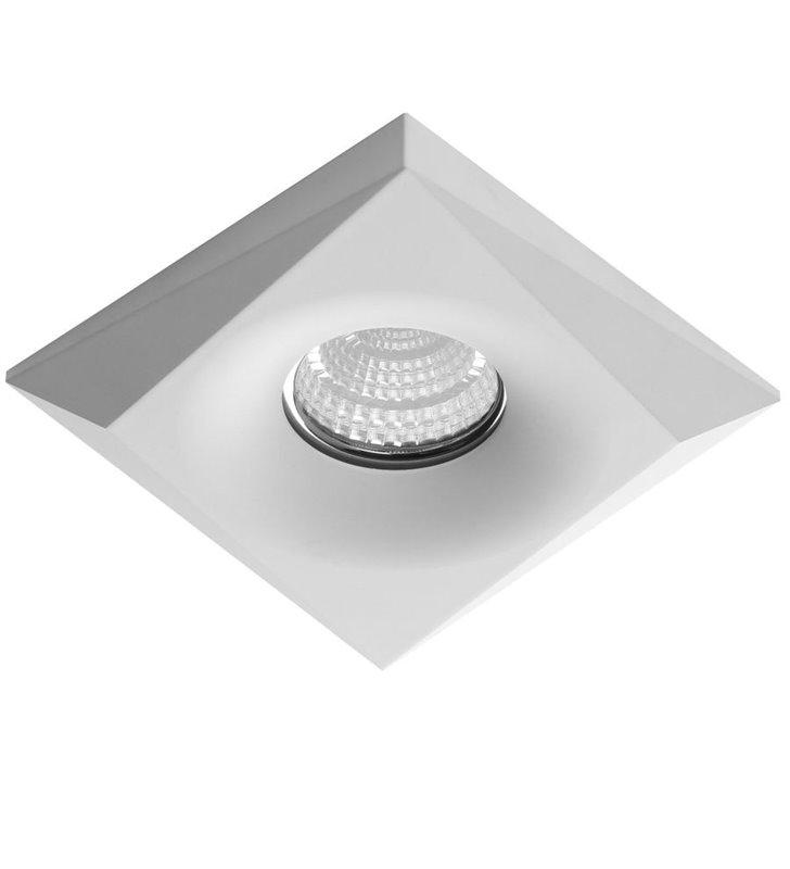 Lorenza biała kwadratowa oprawka punktowa w nowoczesnym stylu